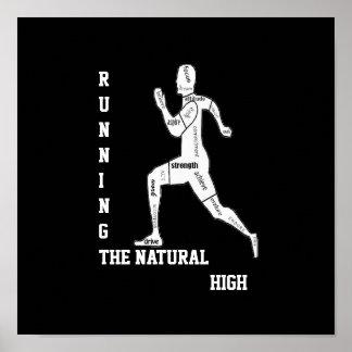 Palabras de motivación, corriendo - el alto natura póster