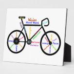 Palabras de motivación de la bici para el ciclo, a placas para mostrar
