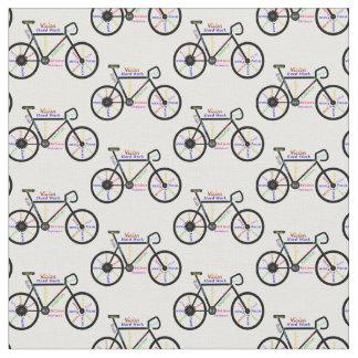 Palabras de motivación de la bicicleta para las telas