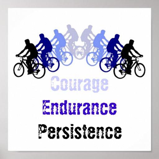 Palabras de motivación, el Biking, completando un  Posters