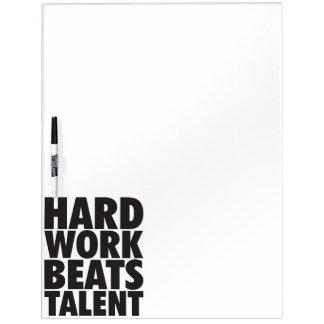 Palabras de motivación - el trabajo duro bate pizarra
