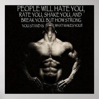 Palabras de motivación poster
