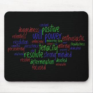 Palabras de motivación por el Año Nuevo, actitud Mousepad