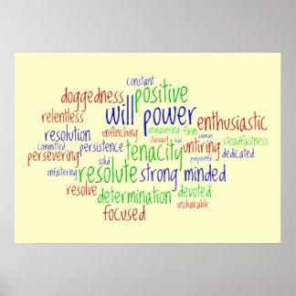 Palabras de motivación por el Año Nuevo actitud p Posters