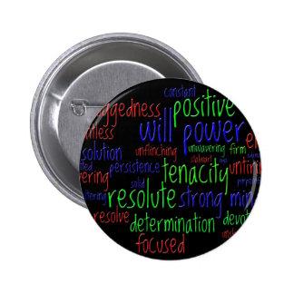 Palabras de motivación por el Año Nuevo, actitud Pin Redondo De 2 Pulgadas