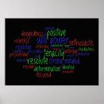 Palabras de motivación que animan una actitud posi posters