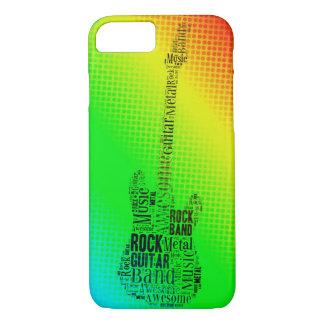Palabras de neón de la guitarra de la estrella del funda iPhone 7