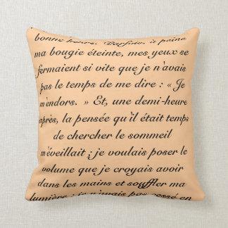 Palabras de Proust Cojín