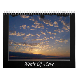 Palabras del amor calendarios de pared