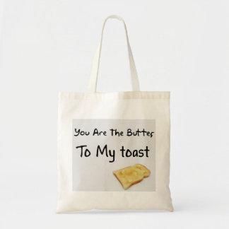Palabras del amor del pan de la tostada