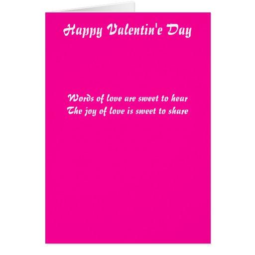 Palabras del amor tarjeta de felicitación