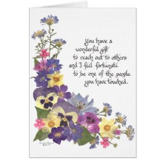 Palabras del aprecio tarjeta de felicitación