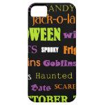 Palabras del arte del subterráneo de Halloween iPhone 5 Case-Mate Protectores