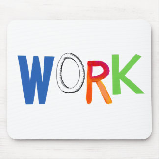 Palabras del arte del trabajador del trabajo del e alfombrilla de raton
