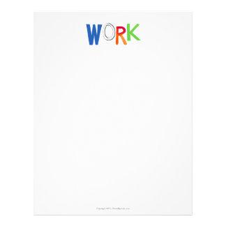 Palabras del arte del trabajador del trabajo del membrete