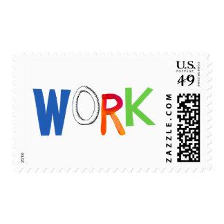 Palabras del arte del trabajador del trabajo del sello postal