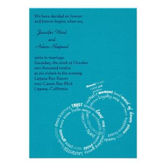 Palabras del boda invitaciones personalizada