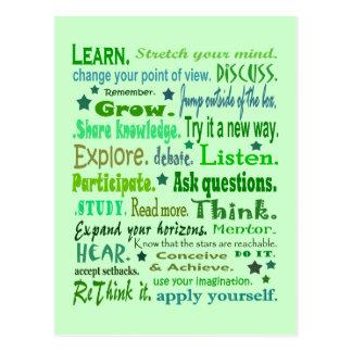 Palabras del collage de la sabiduría postal