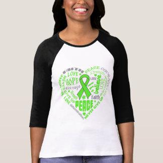 Palabras del corazón de la conciencia de la distro t-shirt