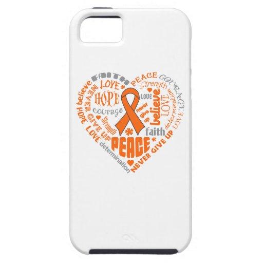 Palabras del corazón de la conciencia de la iPhone 5 Case-Mate carcasas