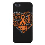 Palabras del corazón de la conciencia de la leucem iPhone 5 carcasas