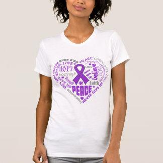 Palabras del corazón de la conciencia de la camisetas