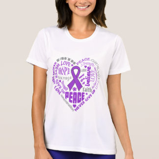 Palabras del corazón de la conciencia de la camiseta