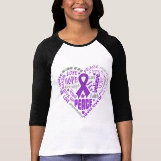 Palabras del corazón de la conciencia de la sarcoi camisetas