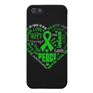 Palabras del corazón de la conciencia de lesión de iPhone 5 carcasa