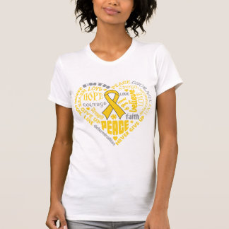 Palabras del corazón de la conciencia de camisetas