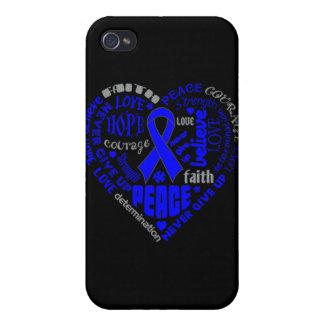 Palabras del corazón de la conciencia del cáncer d iPhone 4/4S fundas