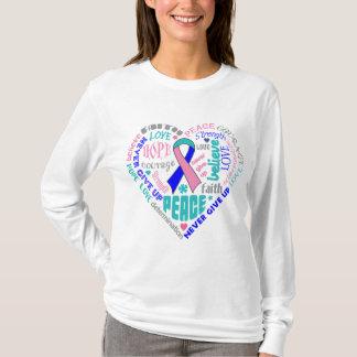 Palabras del corazón de la conciencia del cáncer playera