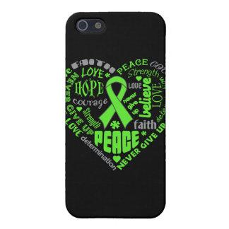 Palabras del corazón del linfoma de Non-Hodgkins iPhone 5 Cárcasa