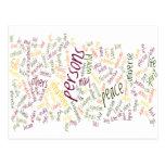 Palabras del positivo de Desidera (R) TA Tarjetas Postales