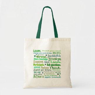 Palabras del saco del collage de la sabiduría bolsa