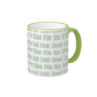 Palabras del St Paddys Taza A Dos Colores