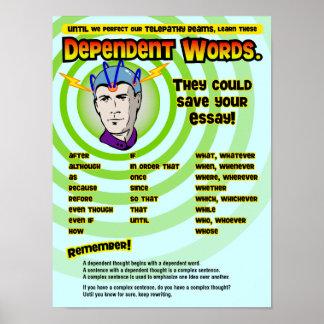 Palabras dependientes posters