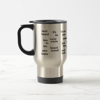 Palabras divertidas de la gramática de Homonymns d Tazas De Café
