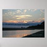 Palabras famosas: Sueño - puesta del sol de Carmel Poster