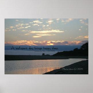 Palabras famosas: Sueño - puesta del sol de Carmel Póster