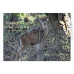 Palabras famosas: Valor - poster de los ciervos Tarjeta De Felicitación