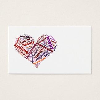 Palabras felices tarjetas de visita
