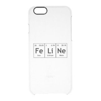 Palabras felinas de los elementos de tabla funda clearly™ deflector para iPhone 6 de uncommon