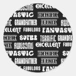 Palabras frescas del positivo de los abuelos del d etiquetas