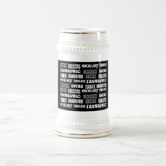 Palabras frescas del positivo de los abuelos del jarra de cerveza