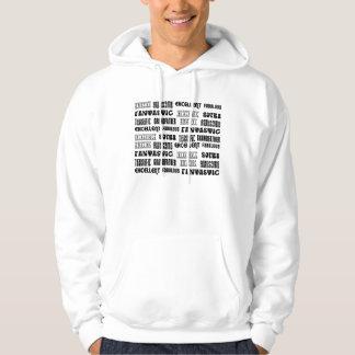Palabras frescas del positivo de los abuelos del suéter con capucha