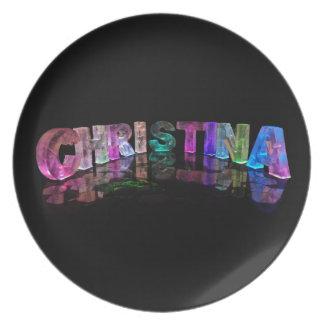 Palabras hermosas - Christina en las luces 3D Plato