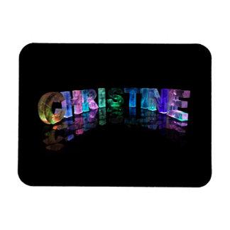 Palabras hermosas - Christine en las luces 3D Imanes Flexibles
