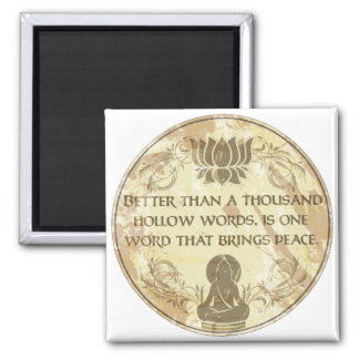 Palabras huecos de Buda Imán Cuadrado