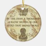 Palabras huecos de Buda Ornamento De Navidad
